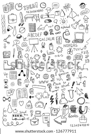 School Objects - stock vector