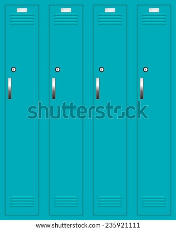 School or changing room lockers