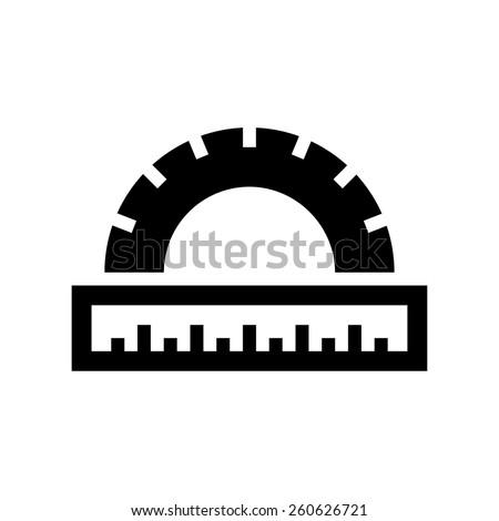 School ruler icon - stock vector