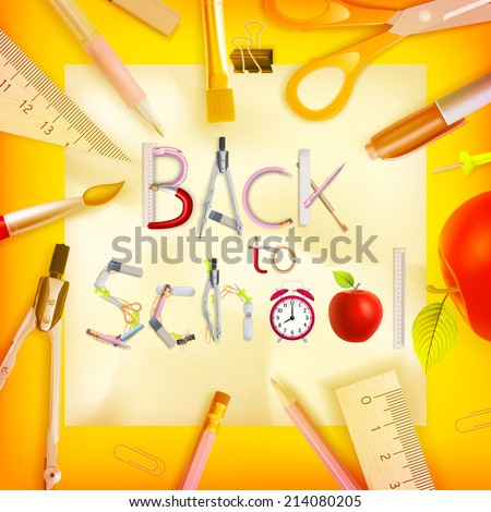 School season invitation template. EPS 10 vector file included - stock vector