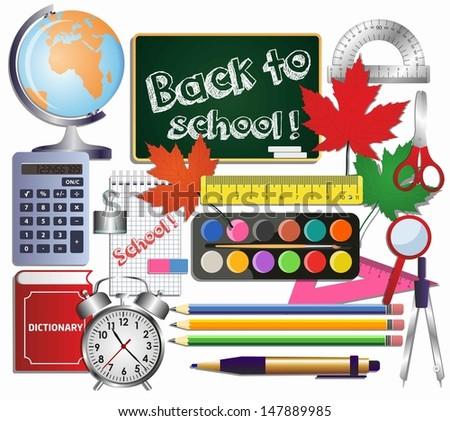 School set background. - stock vector