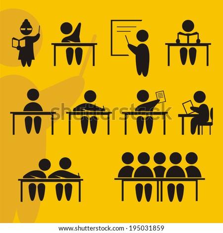 School signs - stock vector