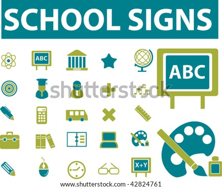 school signs. vector