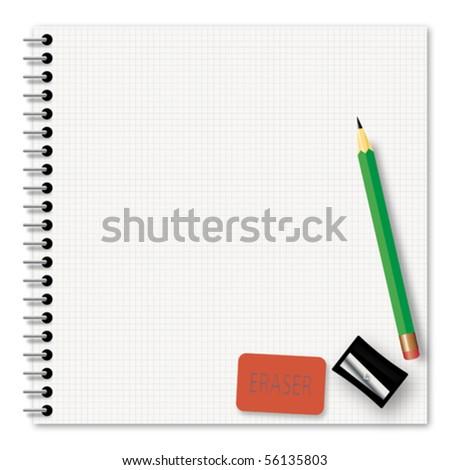 School supplies - stock vector