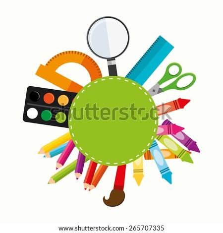 school supplies design, vector illustration eps10 graphic  - stock vector