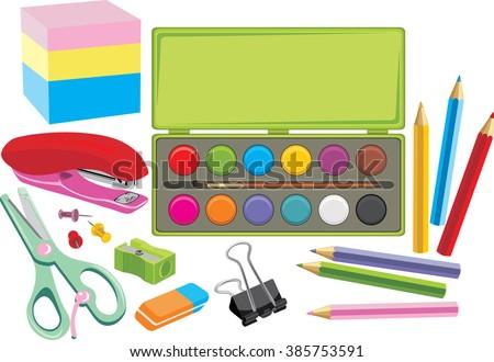 stock-vector-school-supplies-vector-3857