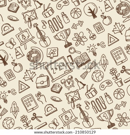 school theme icons pattern