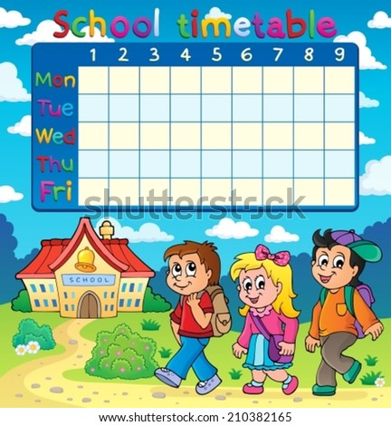 School Timetables to Print School Timetable Composition 5