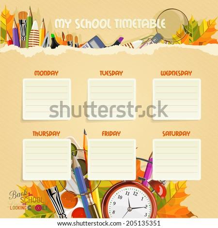 School Timetables uk School Timetable Schedule