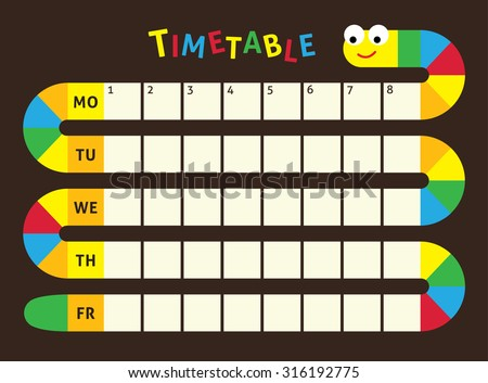 School Timetablebilder und Bilder und Vektorgrafiken ohne – School Time Table Designs