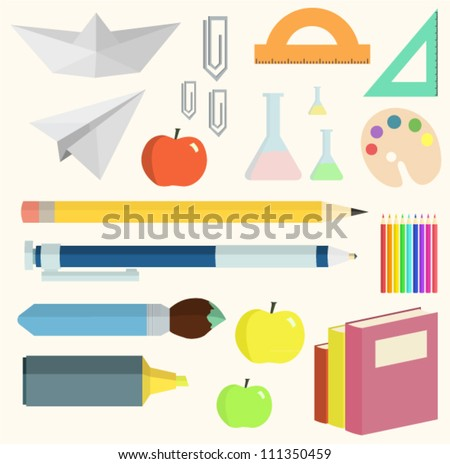 School vector set - stock vector