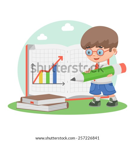 schoolboy school education schedule - stock vector