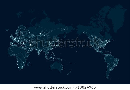 Vector perspective world map stock board stock vector 478663699 sci fi futuristic communications network map of the world gumiabroncs Choice Image