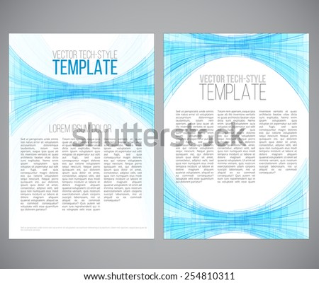 Sci-fi style template. Vector illustration in a3-a4 proportion for printing or web. - stock vector