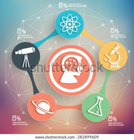 Science and education info graphic design, Business concept design. Clean vector. - stock vector