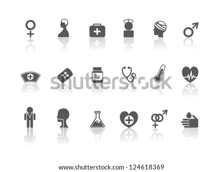 Science and Medical Icon Symbol Collection - stock vector