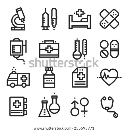 Science and Medical icons, stock vector - stock vector