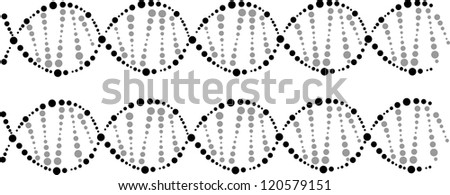 science background with DNA theme and copyspace for your text, EPS10 - stock vector