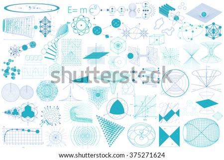 Science Diagrams Big Collection Elements Symbols Stock Photo (Photo ...