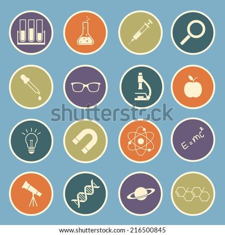 science icon - stock vector