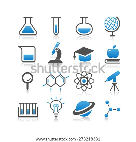 Science icon set - Simplicity Series - stock vector