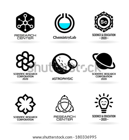 Science icons (4) - stock vector