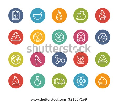 Science Icons // Printemps Series - stock vector