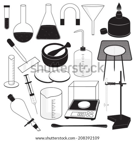 Science Laboratory Equipment - stock vector