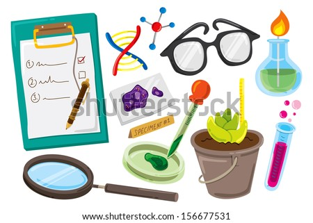 science laboratory icon - stock vector