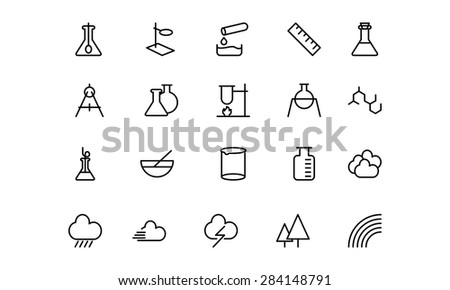 Science Line Vector Icons 6 - stock vector