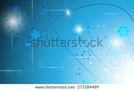 science molecular abstract background - stock vector
