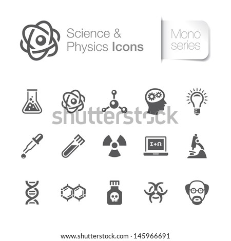 Science & physics related icons - stock vector