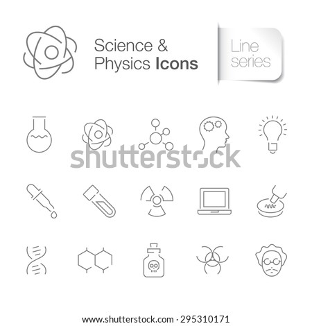 Science related icons set