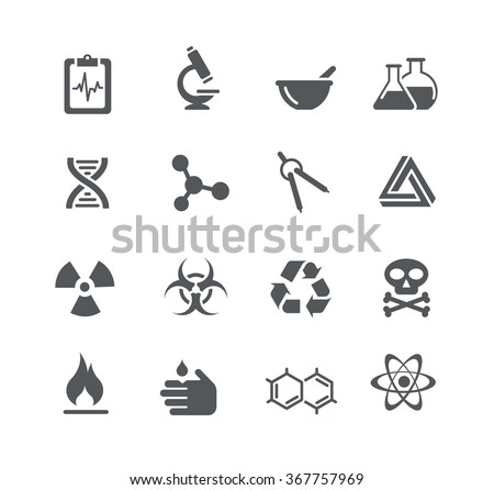 Science Signs and Symbols // Utility Series - stock vector