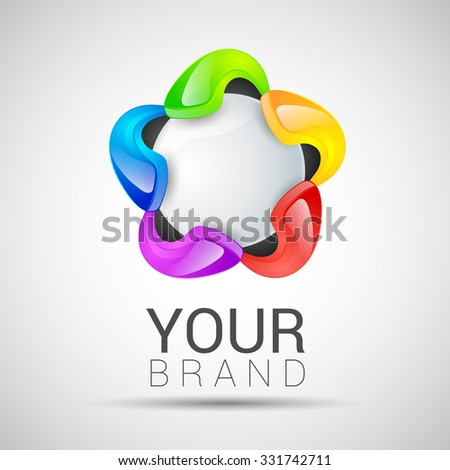 science technology abstract icon - vector logo for your brand. - stock vector
