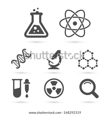 Science trendy icons pack for design. Vector illustration - stock vector
