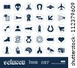 Science web icons set. Hand drawn sketch illustration isolated on white background - stock vector