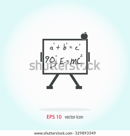 Science with apple vector icon. - stock vector
