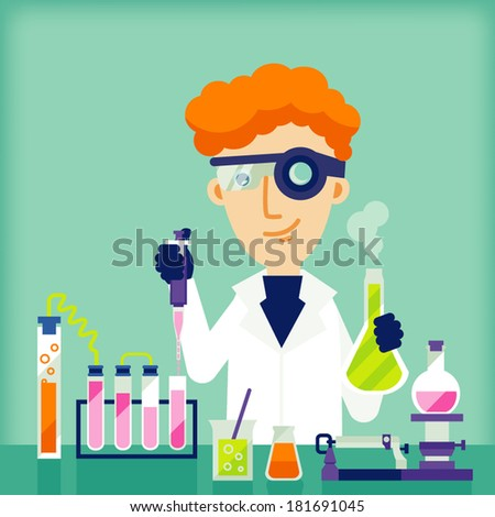 scientific - stock vector
