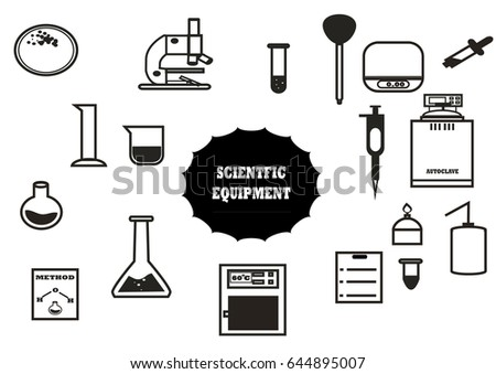 scientific equipment vector set tubeautoclave. Black Bedroom Furniture Sets. Home Design Ideas