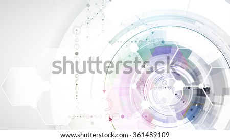 Scientific Future Technology. For Business Presentation. Flyer, Poster Vector Concept Background - stock vector