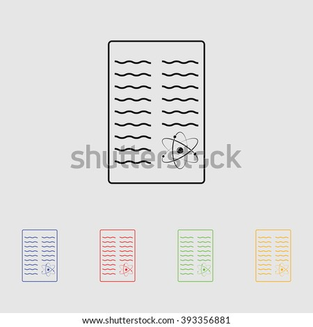 Scientific Report Icon Stock Vector 393356881 - Shutterstock