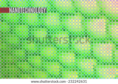 scientific vector background made of tiny particles - stock vector