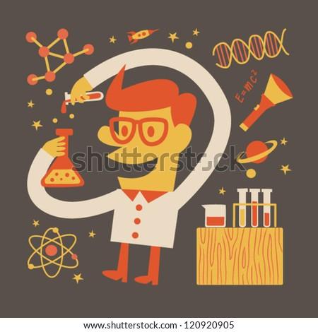 Scientist - stock vector
