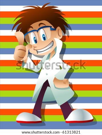 scientist character - stock vector