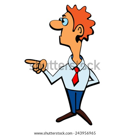Scientist manager. - stock vector