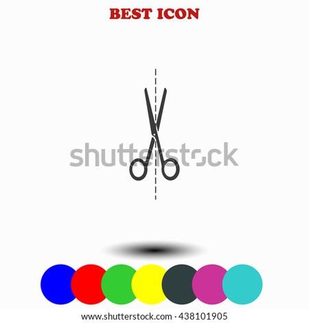 Scissors icon. Scissors illustration. Scissors web. - stock vector
