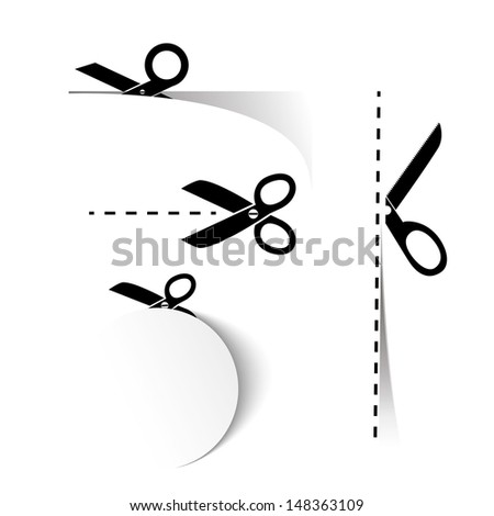 Scissors Template - stock vector