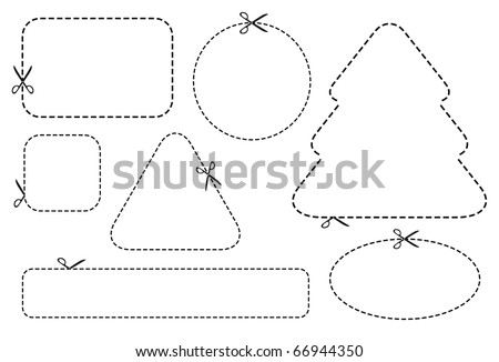 scissors template - design elements - stock vector