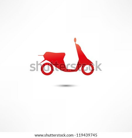 scooter icon - stock vector